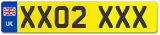 Current style number plates