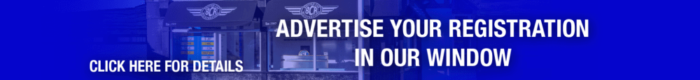 Advertise Your Number Plate in Our Window